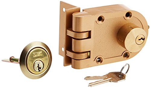 NU-SET 2125-3 Jimmy Proof Style Inter Locking Deadbolt Lock with Double Cylinder, Bronze ()