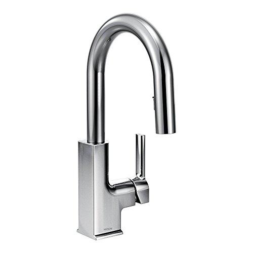 STO One-Handle High Arc Pulldown Bar Faucet Featuring Reflex, Chrome - Moen S62308