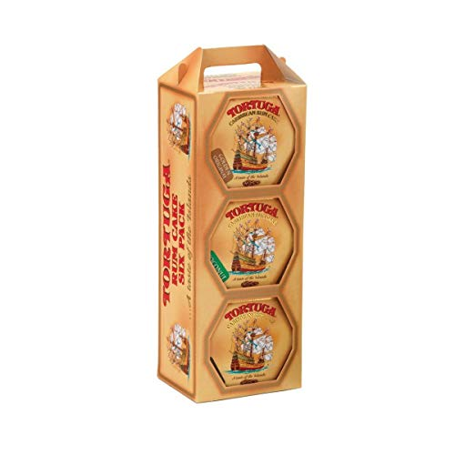 Tortuga Caribbean Six-Pack Mix, 4-Ounce Cake (Pack of 6) (Gift Pack)