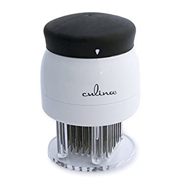 Culina Quality Meat Tenderizer, 72-Sharp Blades, Safety Lock