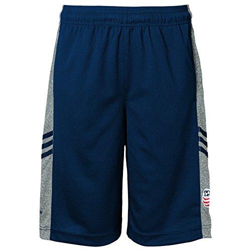 MLS New England Revolution Climalite Youth Boys 8-20 Shorts, Medium, Dark Navy