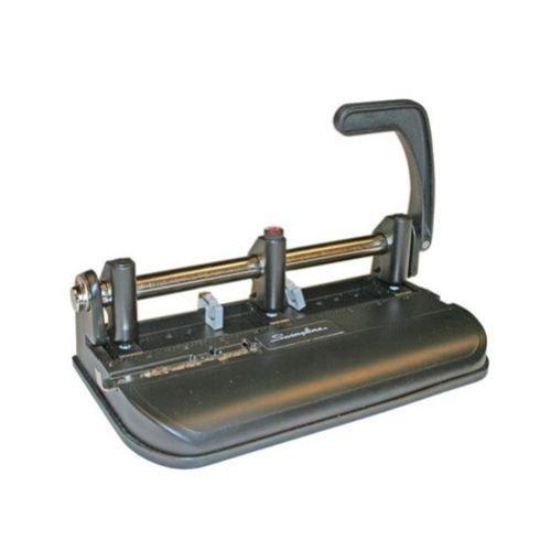 SWI74350 - Swinglinereg; Lever Handle Heavy Duty Punch, 2-7 Holes, Adjustable Centers, 32 Sheets