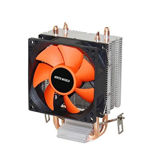 2 Heatpipes CPU Cooler Aluminum Heatsink TDP 18dab Super Silent Fan for LGA 775/1150/1151/1155/1156/1366 & FM1/2