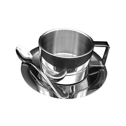 LUOYIMAN Coffee Stainless Steel Saucer
