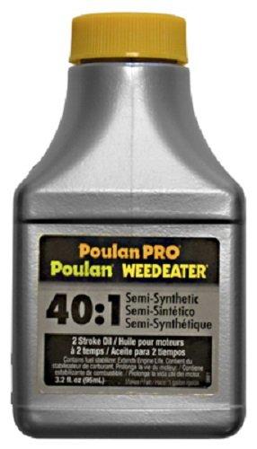 Poulan 030224 3.2 oz 2 Cycle / Stroke Semi Synthetic 40:1 Motor Oil - Quantity 12 bottles