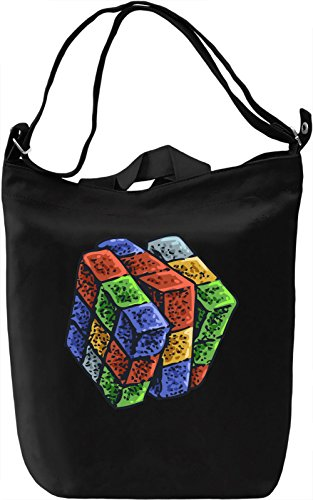 Rubik cube Borsa Giornaliera Canvas Canvas Day Bag| 100% Premium Cotton Canvas| DTG Printing|