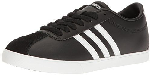 adidas NEO Women's Courtset W Fashion Sneaker, Black/White/Matte Silver, 7.5 M US