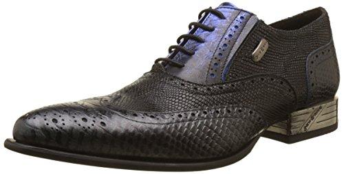 Herren Schwarz New Blau M Rock s7 nw136 Bootsschuhe Black 001 wPqSP