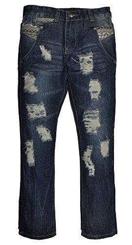 Joker Jeans (City Ink Big Boys Ripped Denim Jeans (8, Medium)