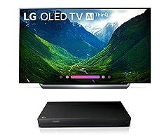 LG OLED55C8P OLED 4K Ultra High Definition AI Smart TV + UP870 4K UHD Blu-Ray Player