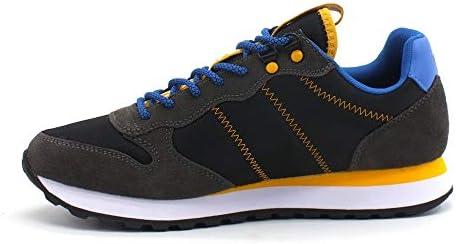 SUN68 Tom Goes Camping Sneakers Homme Running Adulte, Z40105 Noir/Noir, Casual