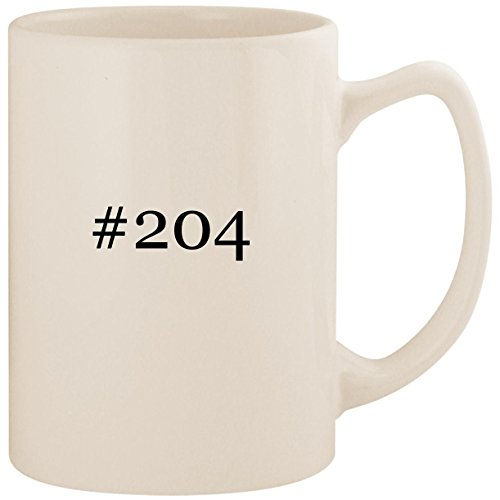 (#204 - White Hashtag 14oz Ceramic Statesman Coffee Mug Cup)