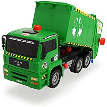 """Dickie Toys 12""""Air Pump Action Garbage Truck Vehicle (Styles May Vary)"""
