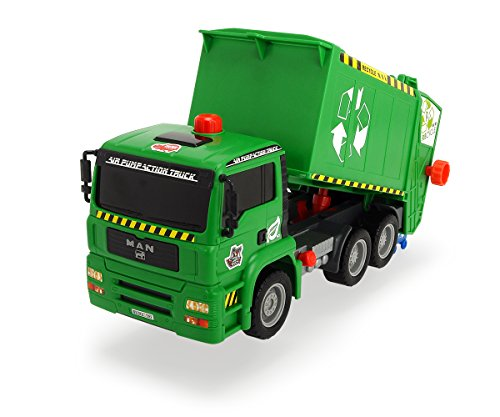 "Dickie Toys 12""Air Pump Action Garbage Truck Vehicle (Styles May Vary)"