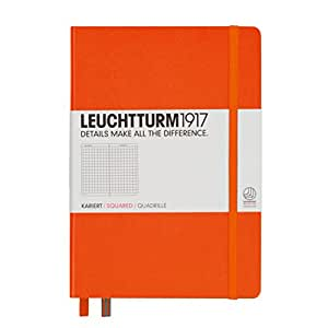Leuchtturm1917 Classic Hardcover Squared Medium Notebook Orange