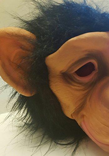 Chimp Monkey Animal Face Funny Comical Adult Mask Halloween