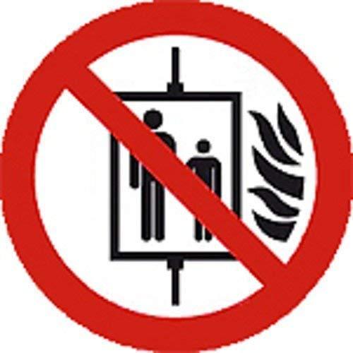 Cartel prohibición de caracteres según ISO 7010 - Ascensor ...