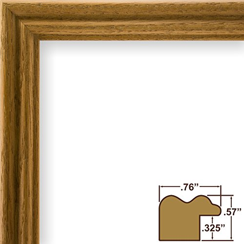 Craig Frames 200ASH105 24 by 36-Inch Picture Frame, Wood Grain (24 Natural Wood)