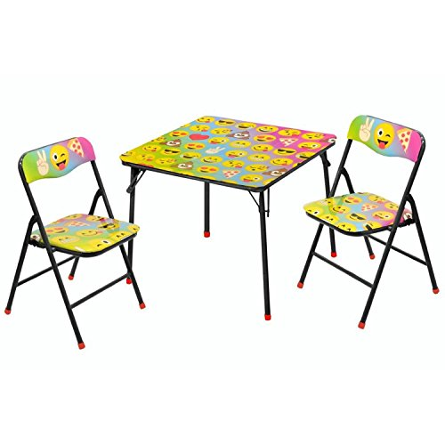 Emoji 3-Piece Table and Chair Set by emoji