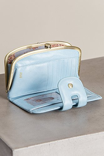 Hobo Womens Leather Blue Mist Vintage Compact Halo Wallet Cr7wqC