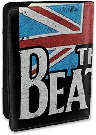 Distressed British Flag ザ・ビートルズ パスポートケース メンズ 男女兼用 パスポートカバー パスポート用カバー パスポートバッグ ポーチ 6.5インチ高級PUレザー 三つのカードケース 家族 国内海外旅行用品 多機能