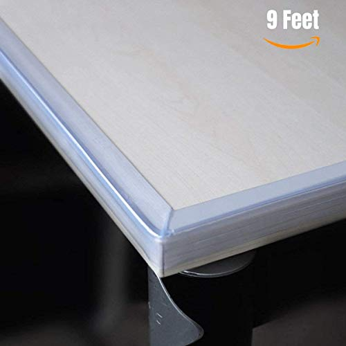 Granite Corner - Clear Edge Protectors by The Hamptons Baby - 9-1ft Pieces with Premium Gel Adhesive - Guard Against Injuries on Sharp Edges in Your House, Use on Coffee & Dining Tables, Dressers, Desks and Much More