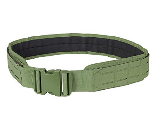 Condor Outdoor LCS Gun Belt – Tactical Heavy Duty Nylon with Laser Cut MOLLE Webbing, 121174 (OD Green, Large)