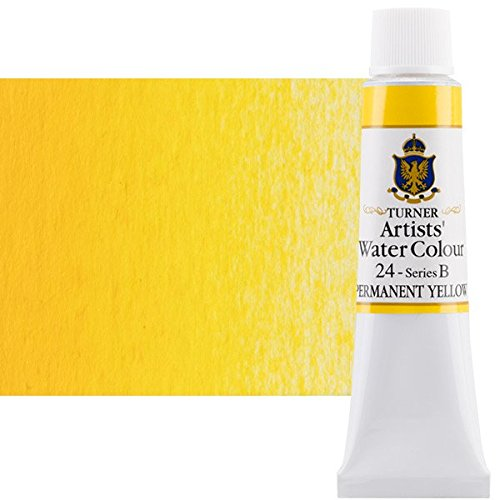 - Turner Concentrated Professional Artists' Watercolor Paint 15ml Tube - Permanent Yellow