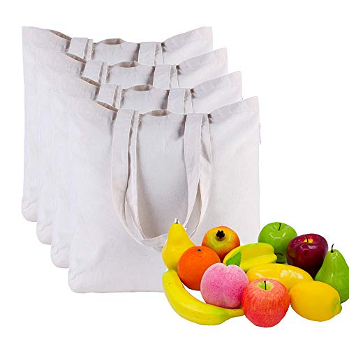 Canvas-Bag-4pcs-Grocery-Bags-by-Dimayar-Resuable-Shopping-Bag-Tote-Grocery-Bag-for-Crafting-Decorating-White