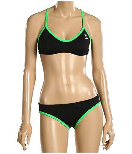 TYR Sport Women's Neon Solid Ringback Workout Bikini,Bright ()