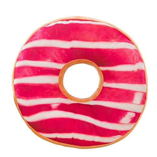 Voberry- Pillow, Doughnut Shaped Ring Plush Soft Novelty Style Cushion Pillow Outdoor Pillow (Multicolor G) ()