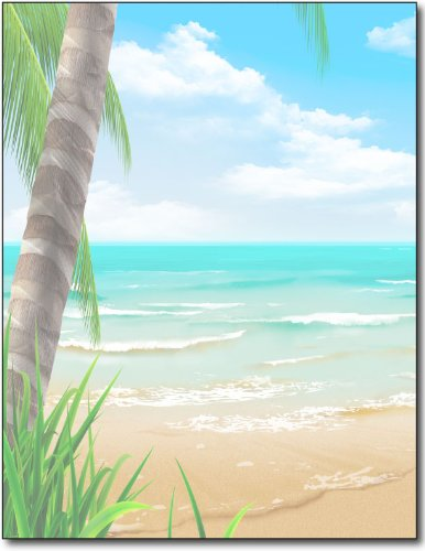 Island Paradise Stationery Paper - 100 Sheets