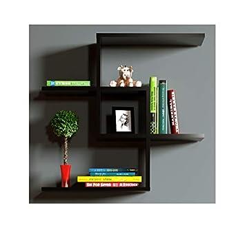 CHAIN Mensola da muro - Mensola Parete - Mensola Libreria - Scaffale pensile per studio / soggiorno in Design moderno (Bianco) Homidea
