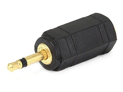 Monoprice 107121 2.5mm Mono Plug to 3.5mm Mono Jack Adaptor, Gold Plated (3 Pack) ()