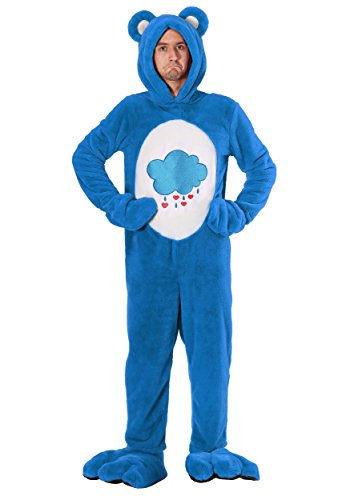 Care Bears Deluxe Grumpy Bear Adult Costume Large Blue]()