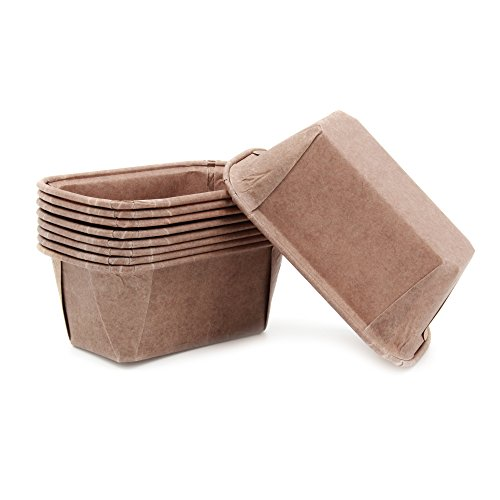 Mini Paper Baking Loaf Pan Good For All Of The Mini Plumpy Color BROWN Size 3.15/1.58