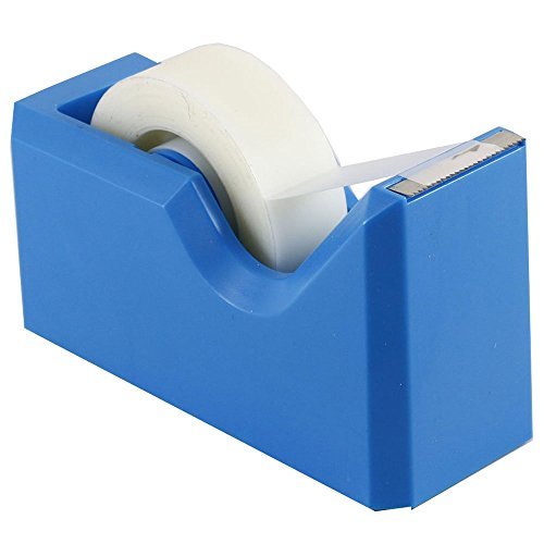 "JAM Paper Colorful Tape Dispensers - 4 1/2"" x 2 1/2"" x 1 3/4"" - Blue Tape Dispenser - Sold Individually"