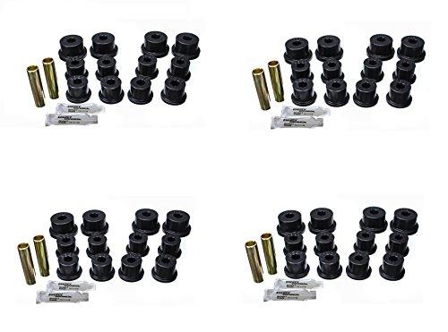 Energy Suspension 1.2101G Leaf Spring Bushing Set; Black; Front/Rear; For Shackles; Performance Polyurethane; ()
