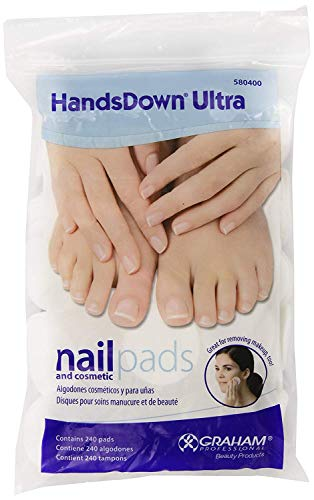 Hands Down Ultra Nail - Graham Hands Down Ultra Nail and Cosmetic Pads, 240 Count