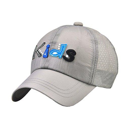 Sport Chapeau Gris Garçon Casquette De Cap Fille Soleil Baseball Hat Anglais Acvip Pour dp87qdwx