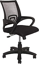 Marc Furniture Plastic Medium Back Office Chair (Black Colour, Square net)