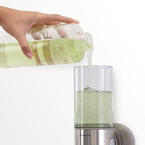 simplehuman Double Wall Mount Shower Pump Shampoo Soap Dispensers 2 x 15 fl.oz