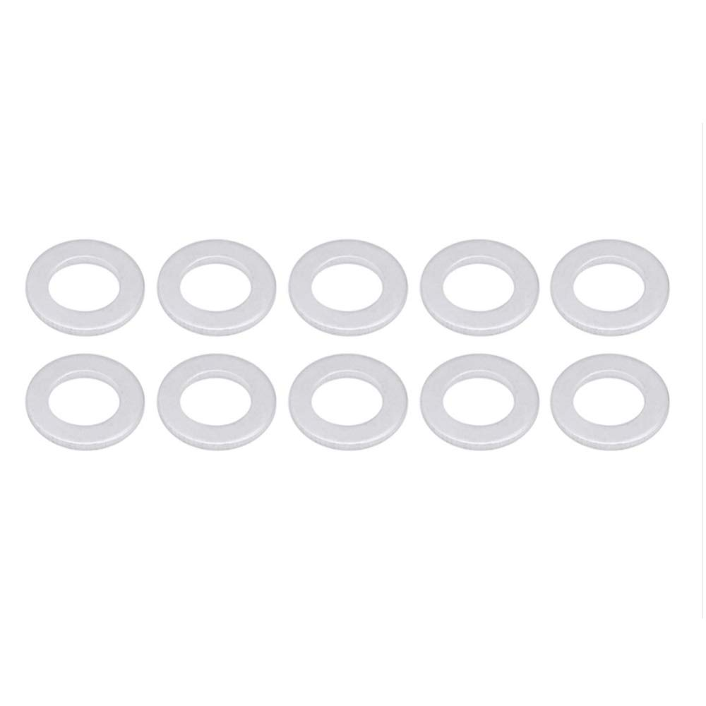 VIGORWORK 10PC Standard Oil Drain Plug Crush Washer Gasket for Acura Toyota 90430-12031 Black