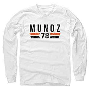 500 LEVEL's Anthony Munoz Long Sleeve Shirt - Vintage Cincinnati Football Fan Gear - Anthony Munoz Font