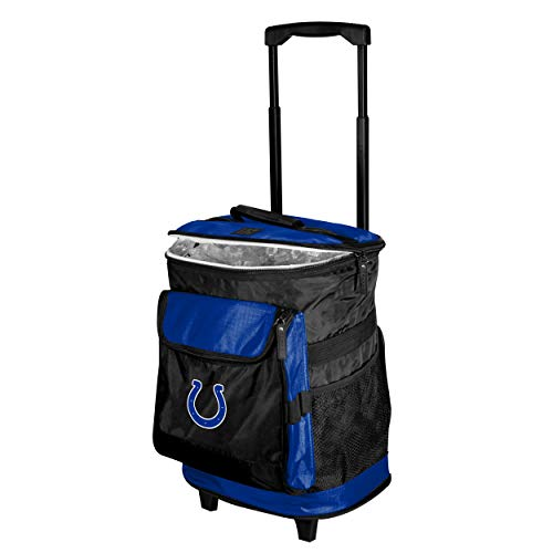 Logo Brands Indianapolis Colts 48-Can Rolling Cooler with Wheels and Backpack Straps