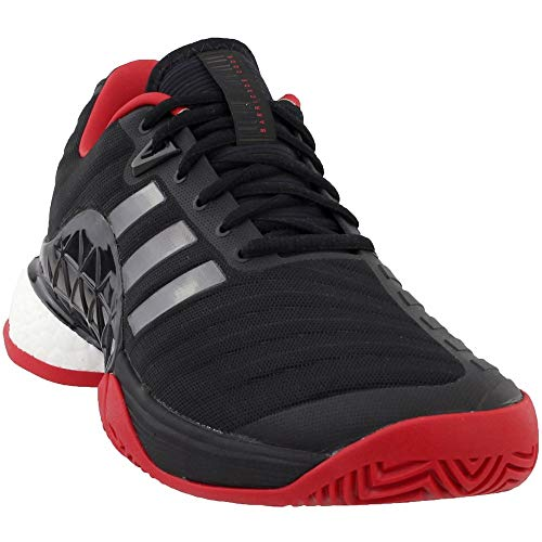 check out 786f7 0e963 adidas Men s Barricade 2018 Tennis Shoe (Black Night Scarlet,8.5 M US)