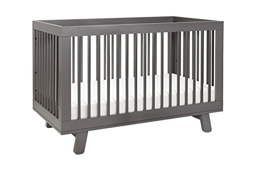 Babyletto Hudson 3-in-1 Convertible Crib with Toddler Bed Conversion Kit, Slate Crib Toddler Conversion Kit