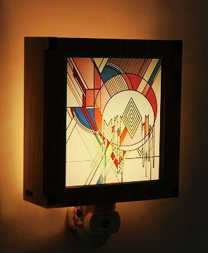 Frank Lloyd Wright Hardwood Frozen Spheres Night Light