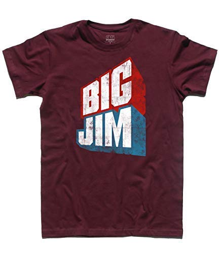 T shirt Version Jim Uomo Vintage Logo Bordeaux Big 7Hw7q6r