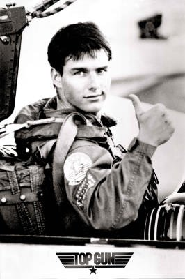 (Top Gun Movie Tom Cruise Thumbs Up Poster Print)